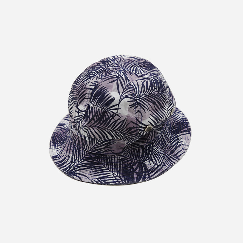 Imagination bucket hat _ checked palm violet