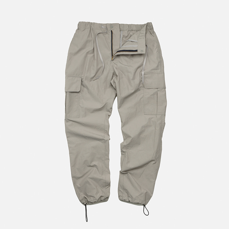 Cargo string pants _ light gray