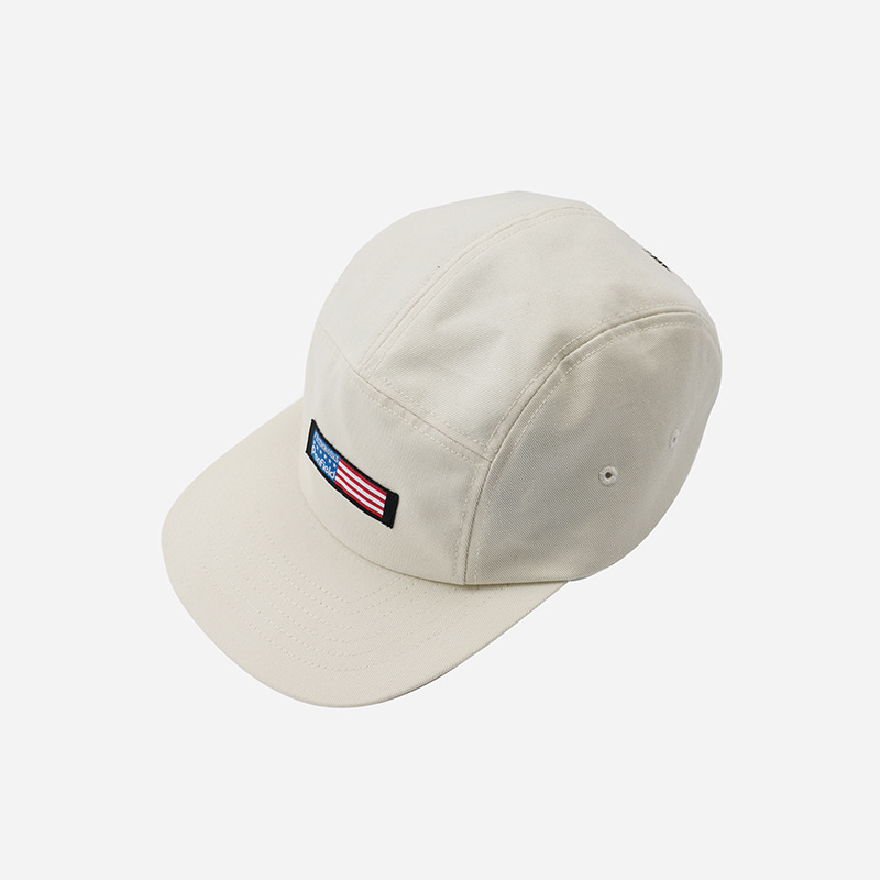 [PENFIELD X FRIZMWORKS] Flag logo camp cap _ light beige