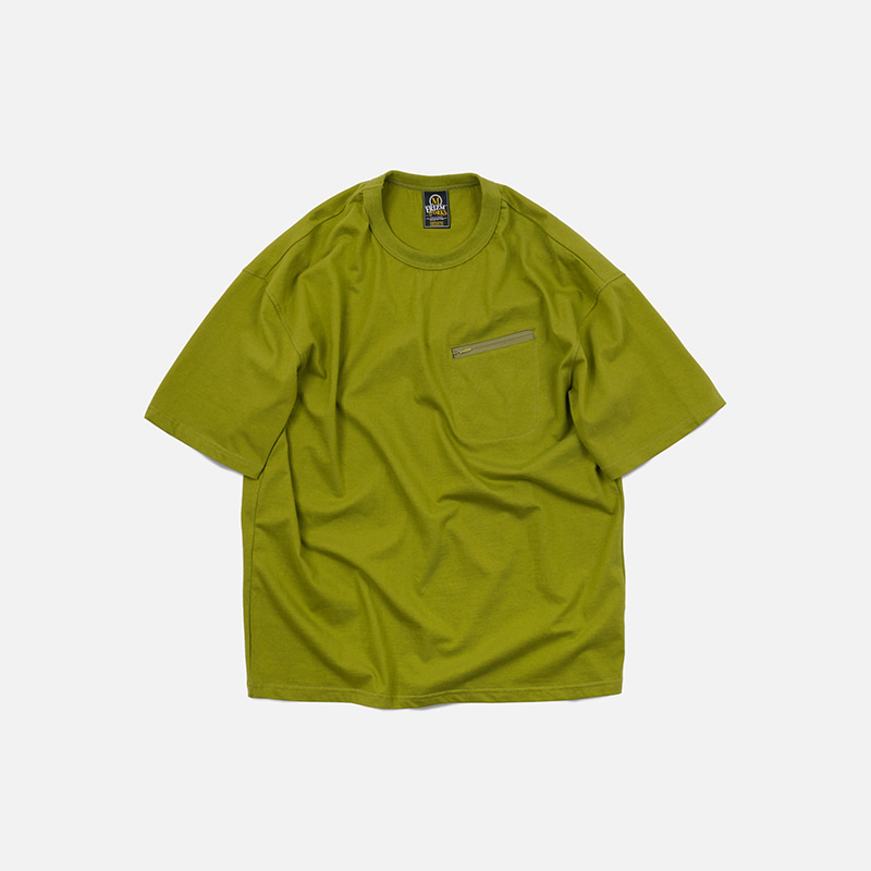 Reverse zip pocket tee _ avocado