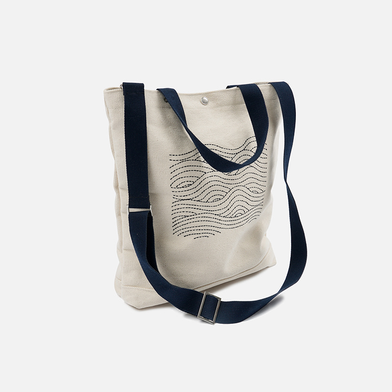 Heavy canvas needlework bag _ navy