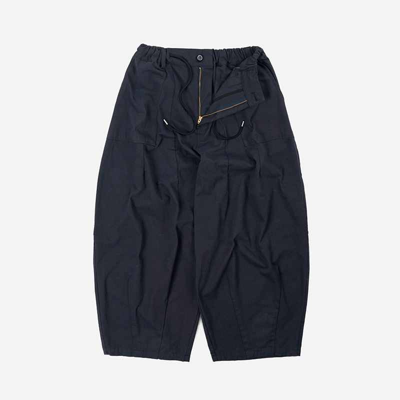 Twill balloon pants _ navy