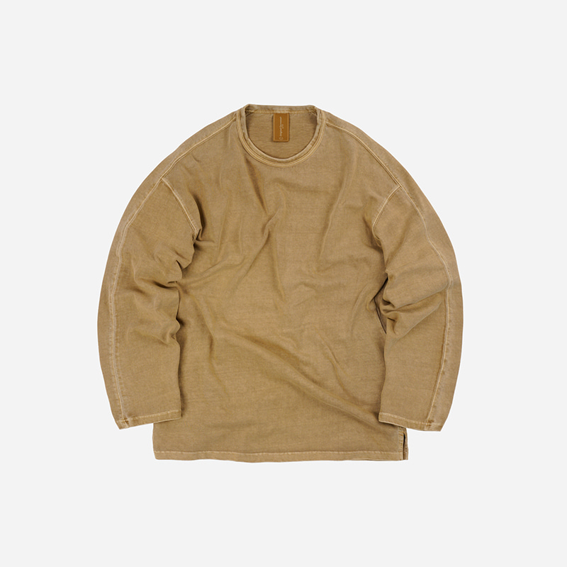 OG Pigment dyeing long sleeve _ sand
