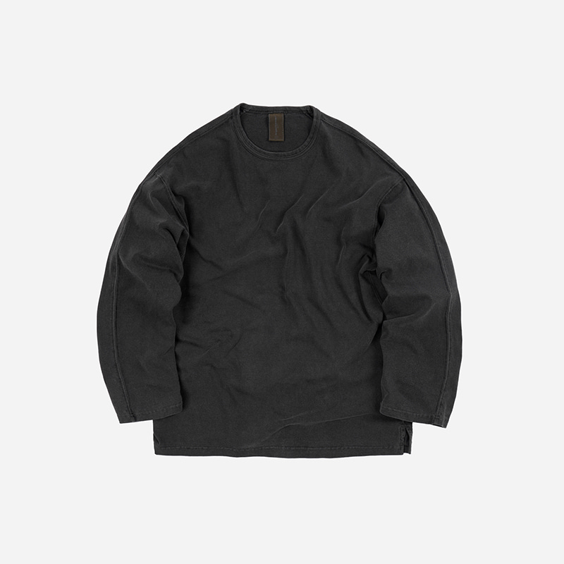 OG Pigment dyeing long sleeve _ charcoal