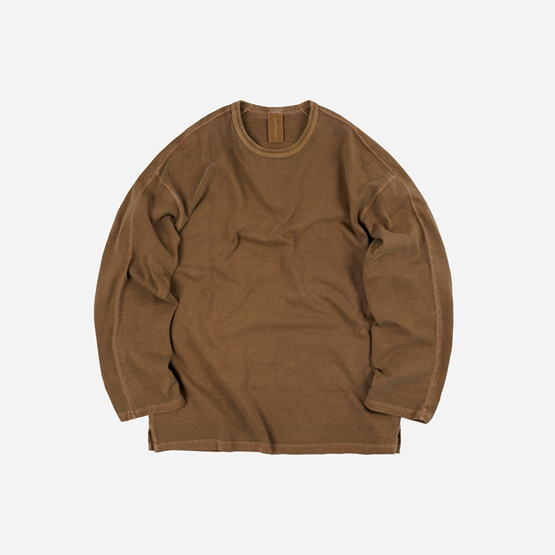OG Pigment dyeing long sleeve _ brown