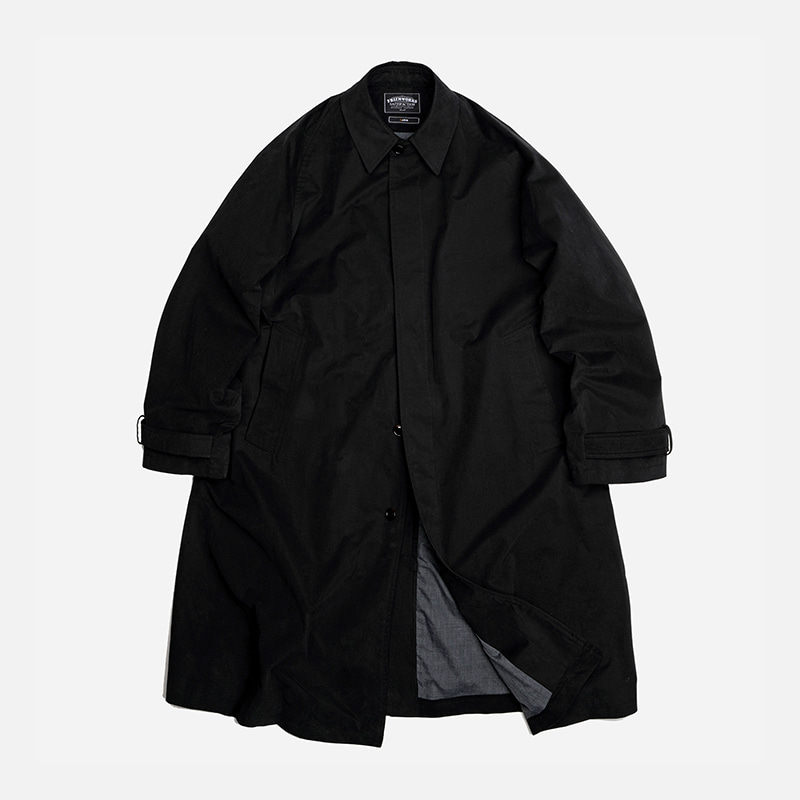 Oversized balmacaan coat _ black