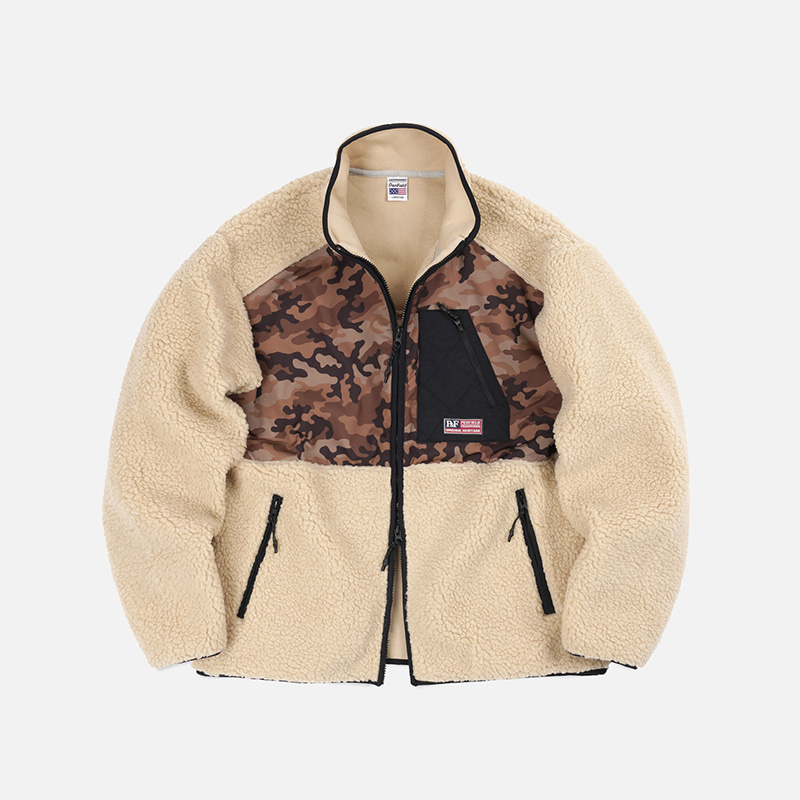 [PENFIELD X FRIZMWORKS]Camouflage fleece jacket _ beige