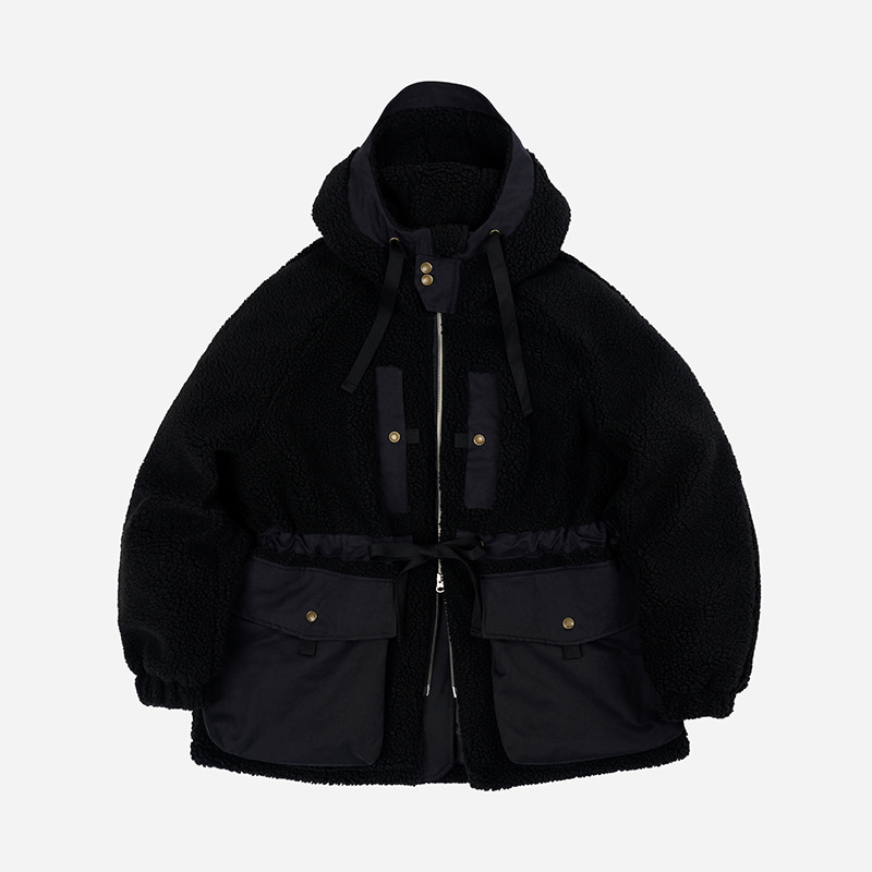 Eskimo fleece parka _ black