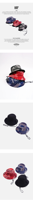 프리즘웍스(FRIZMWORKS) [FWS X USS2] REVERSIBLE BANDANA BUCKET HAT _ BLUE