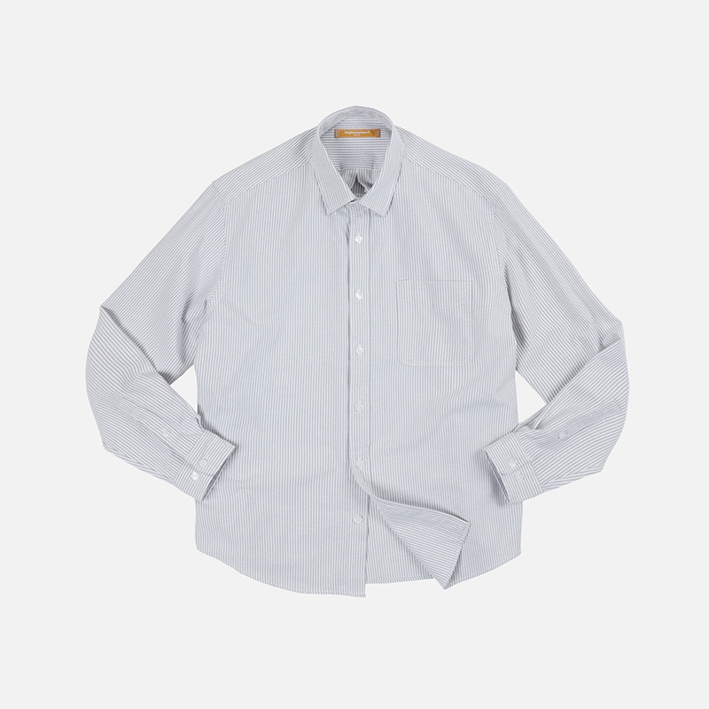 OG Stripe oversized shirt _ gray