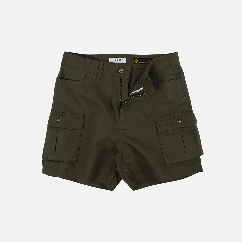 [SLOW BOY X FRIZMWORKS] Oversized cargo short pants _ olive