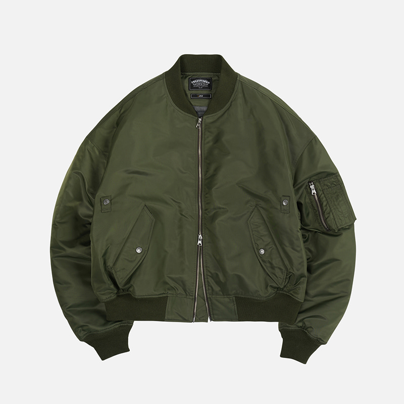 Oversized MA-1 flight jacket _ olive