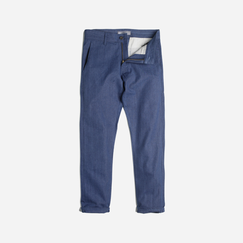 Elegant denim slacks _ blue