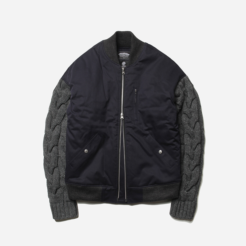Heavy sleeve blouson jacket _ navy[프리즘웍스 X 니티드]