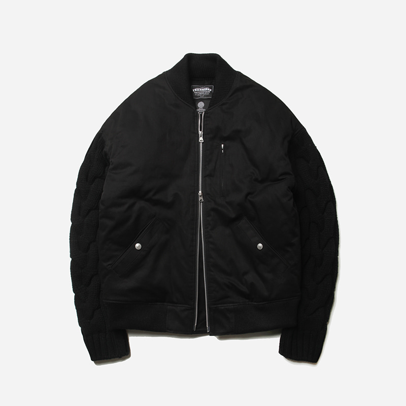 Heavy sleeve blouson jacket _ black[프리즘웍스 X 니티드]