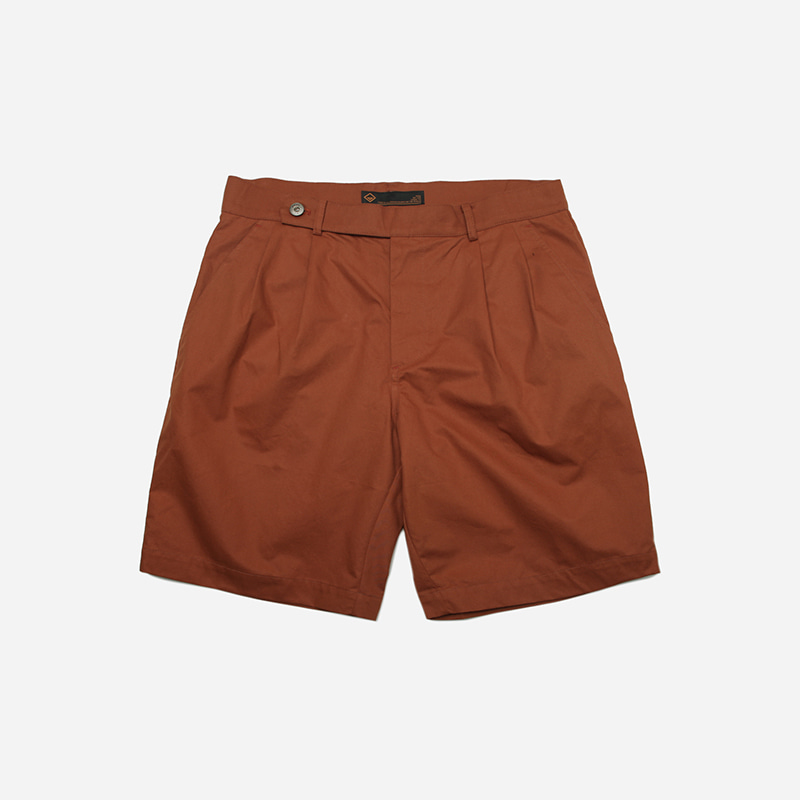 Gurkha two tuck shorts _ orange brown