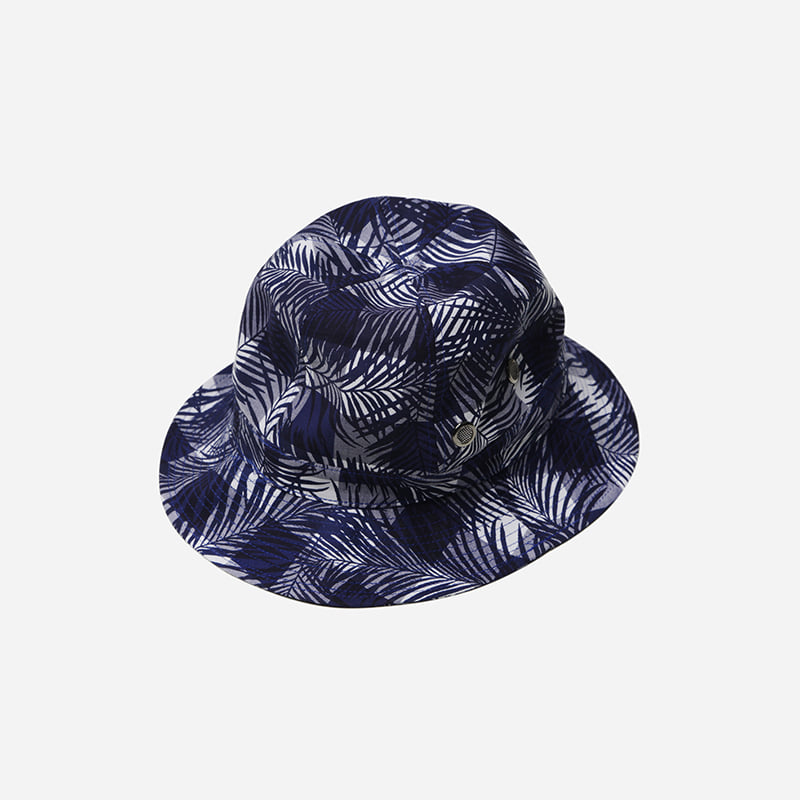 Imagination bucket hat _ checked palm navy