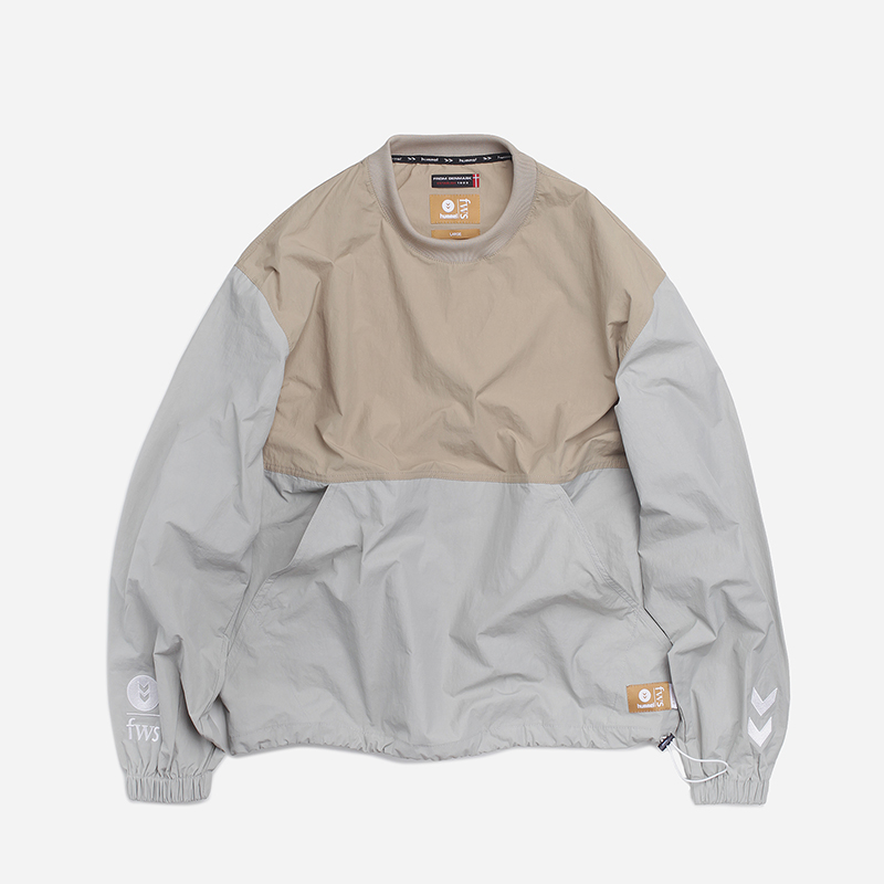 [FRIZMWORKS X HUMMEL]Synergy set-up pullover _ beige