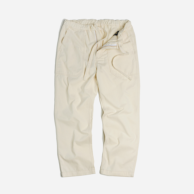 Banding fatigue wide pants _ ivory