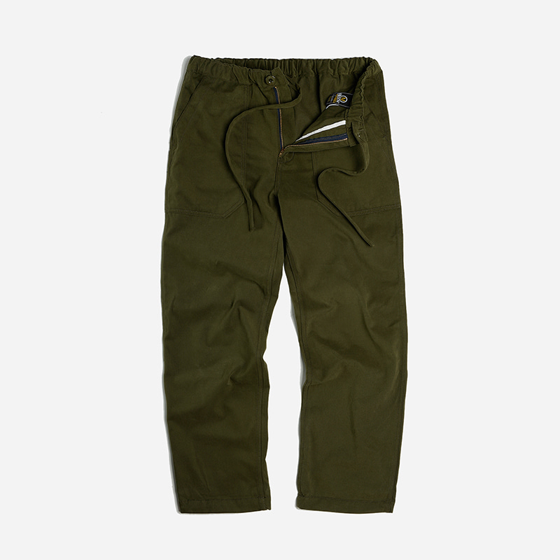 Banding fatigue wide pants _ olive