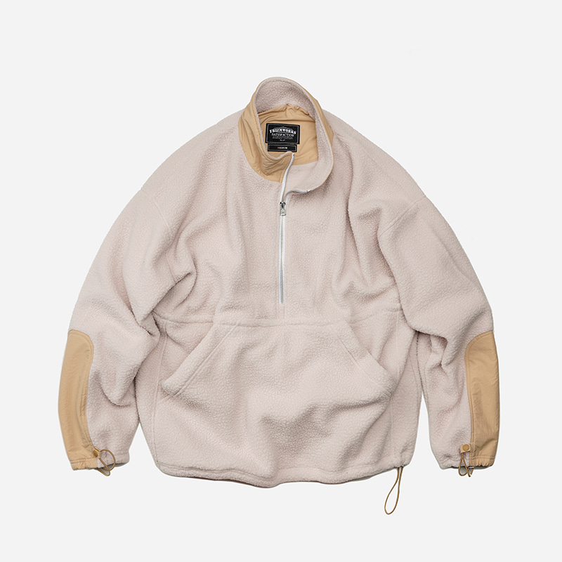 PCU Level 3 fleece pullover _ ivory