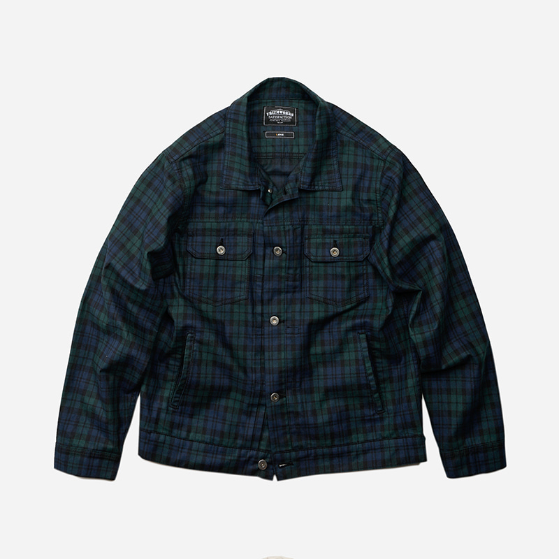 Adams trucker jacket _ black watch