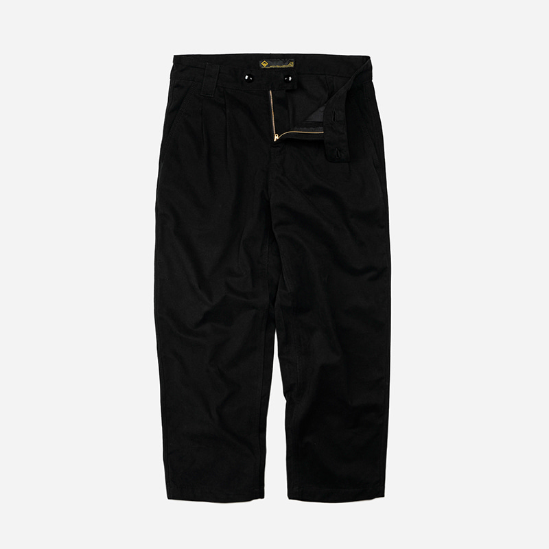 Two tuck wide pants _ black