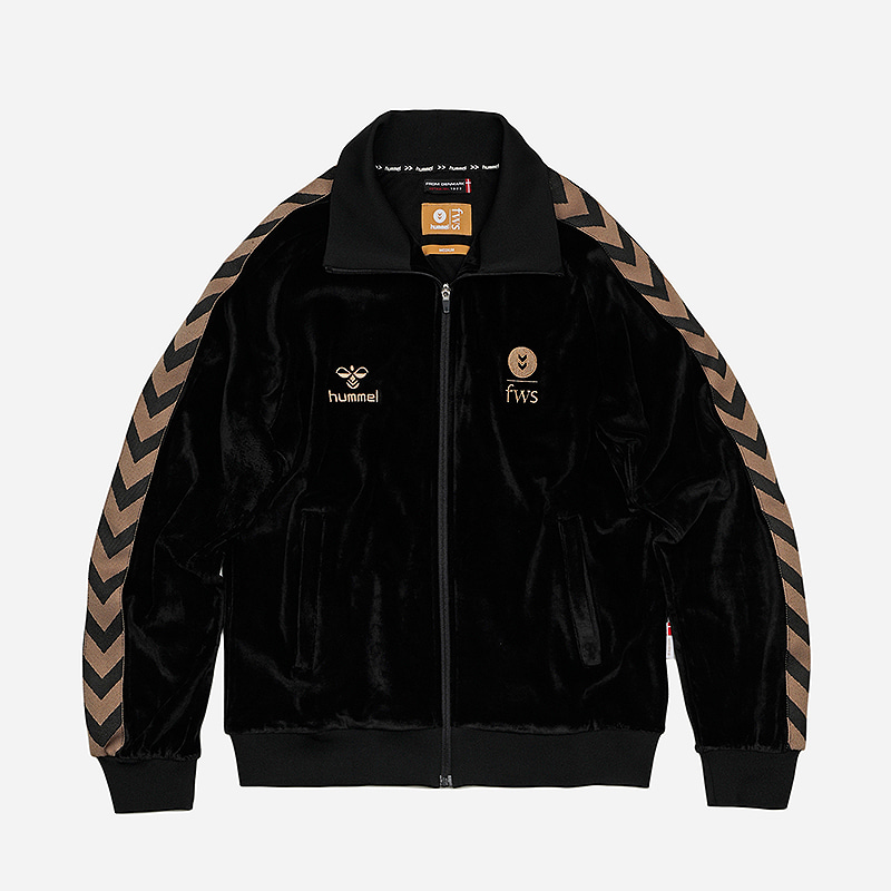 [HUMMEL X FRIZMWORKS] Velour training jacket _ black