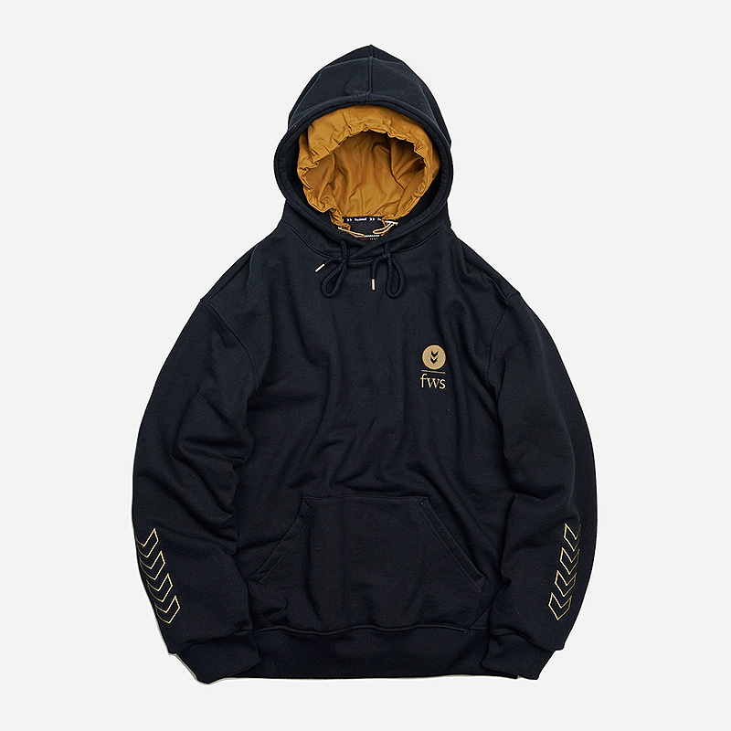 [HUMMEL X FRIZMWORKS] Heavyweight layered hoody _ navy