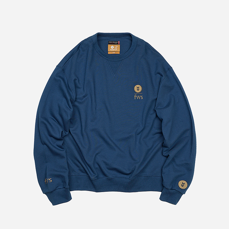 [HUMMEL X FRIZMWORKS] FZHM Logo sweat shirt _ dark blue
