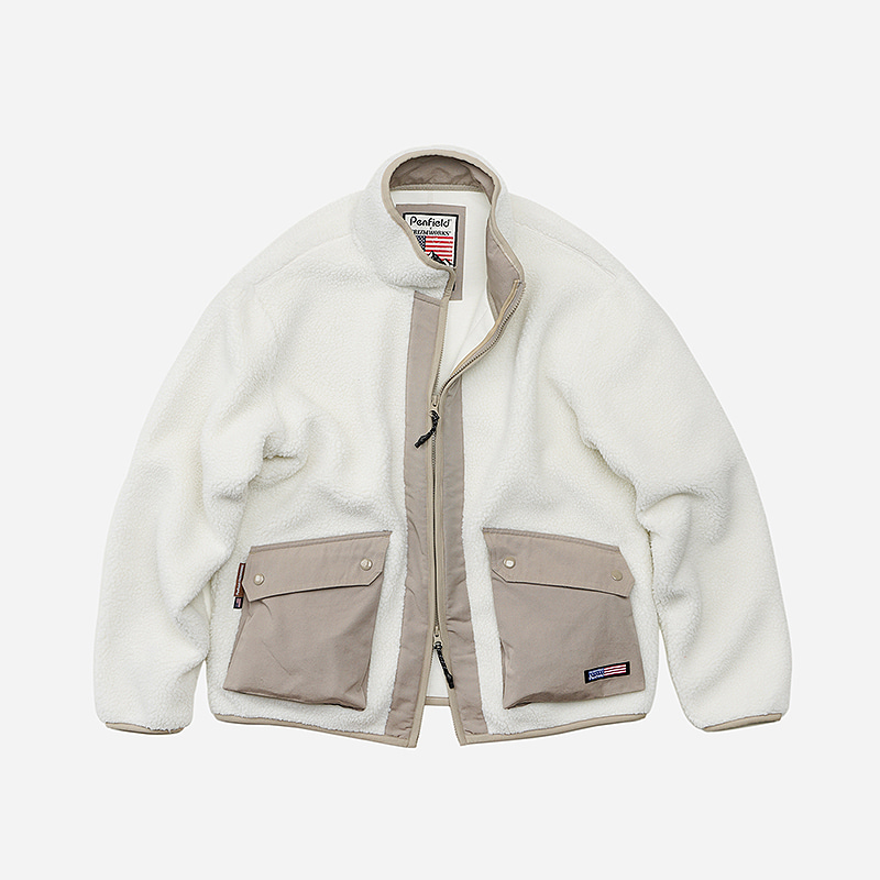 [PENFIELD X FRIZMWORKS] Grizzly fleece jacket _ ivory