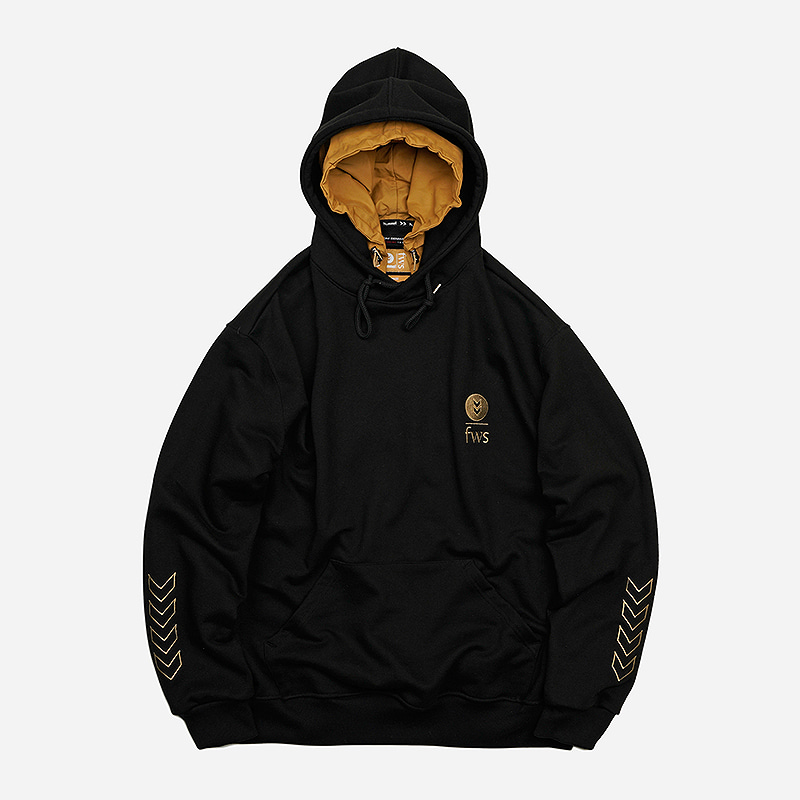[HUMMEL X FRIZMWORKS] Heavyweight layered hoody _ black