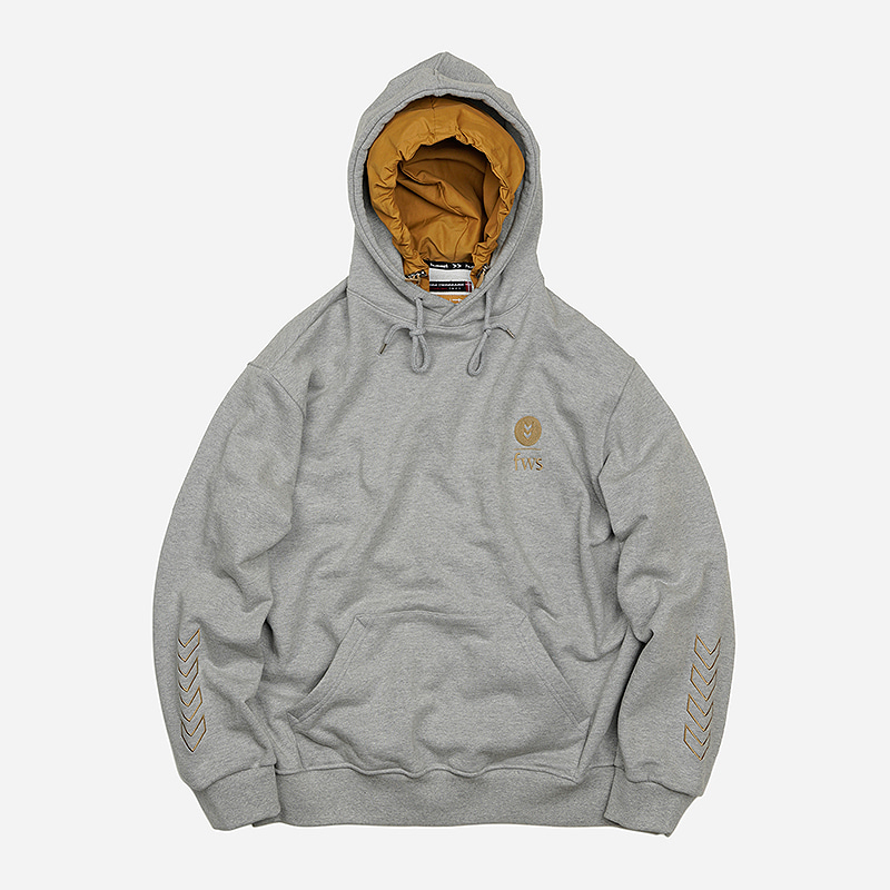 [HUMMEL X FRIZMWORKS] Heavyweight layered hoody _ gray