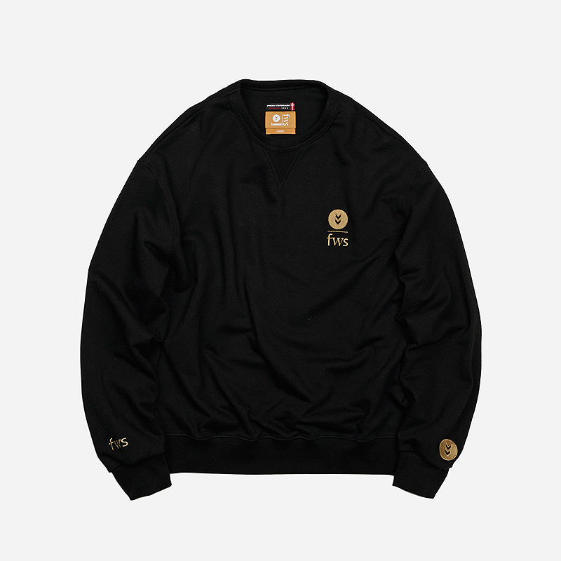 [HUMMEL X FRIZMWORKS] FZHM Logo sweat shirt _ black
