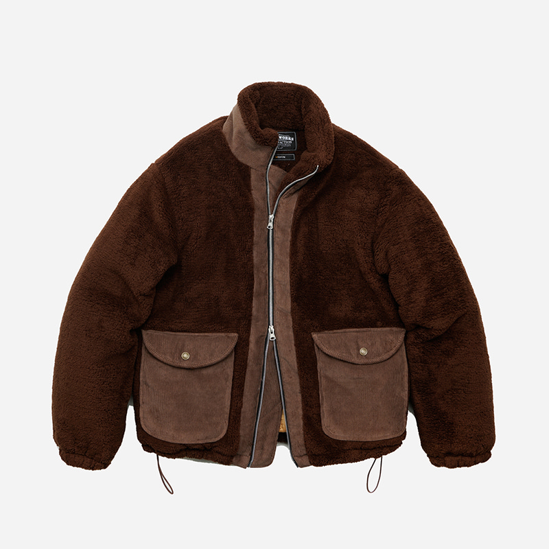 Heavy fleece grizzly jacket 002 _ brown