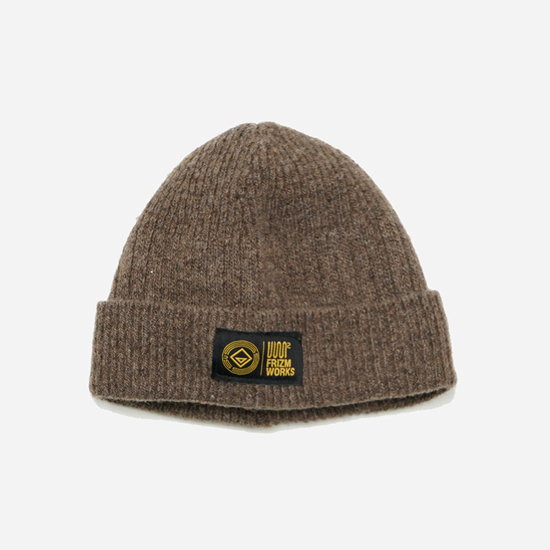 [USS2 X FRIZMWORKS]Wool watch cap _ brown