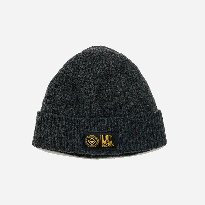 [USS2 X FRIZMWORKS]Wool watch cap _ charcoal