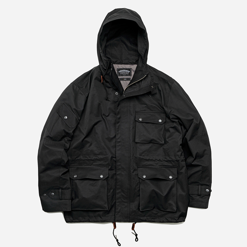French chemical parka _ black