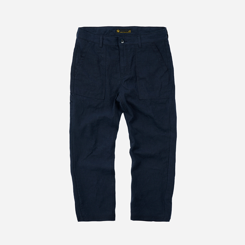 Linen fatigue pants _ navy