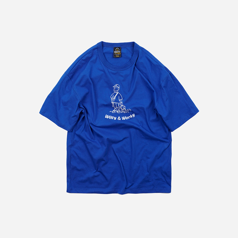 WILLY & WORKY Tee _ blue