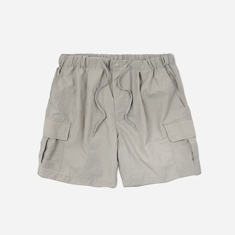 Cargo string shorts _ light gray