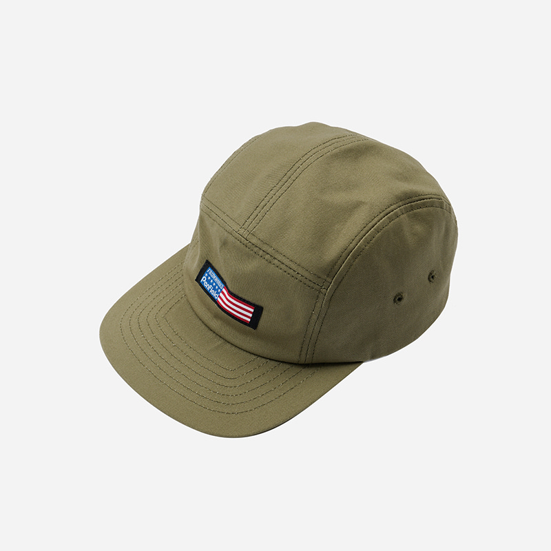 [PENFIELD X FRIZMWORKS] Flag logo camp cap _ light khaki