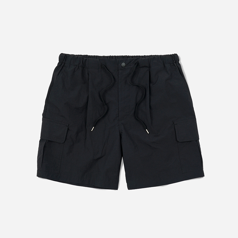 Cargo string shorts _ black