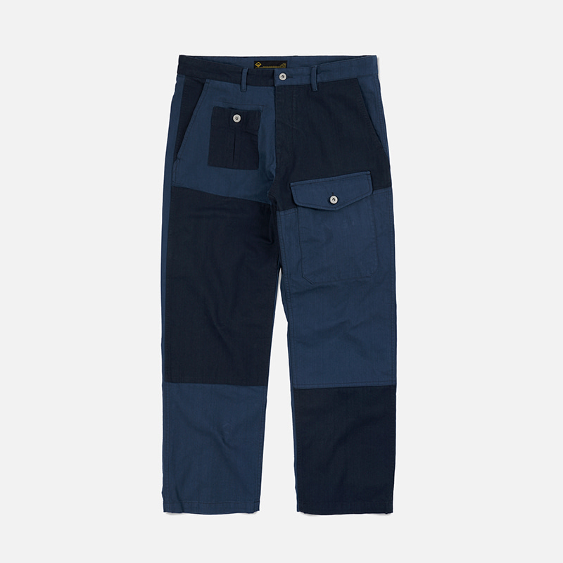 HBT Patchwork pants _ navy