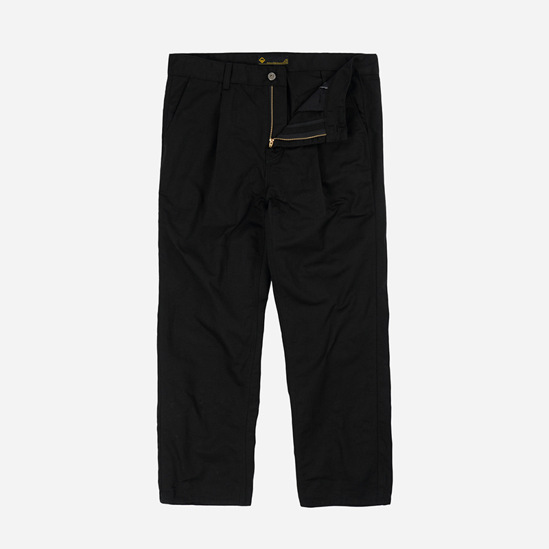 Carpenter one tuck pants _ black