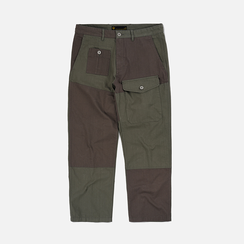 HBT Patchwork pants _ olive