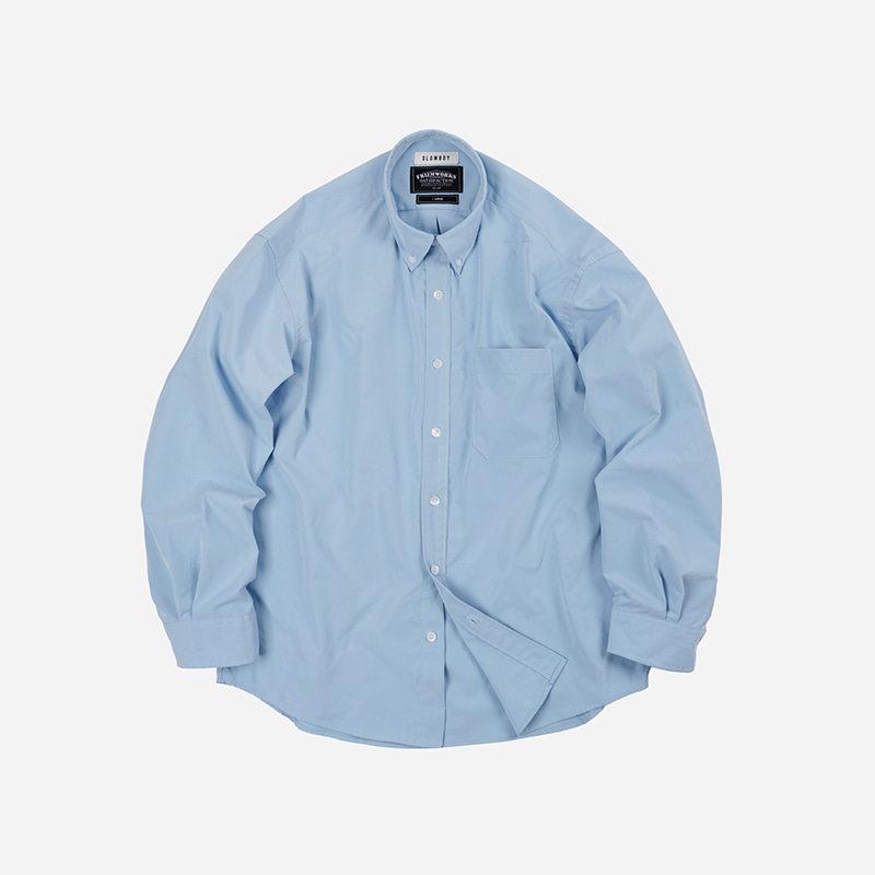 [SLOW BOY X FRIZMWORKS]Oversized button down shirt _ blue