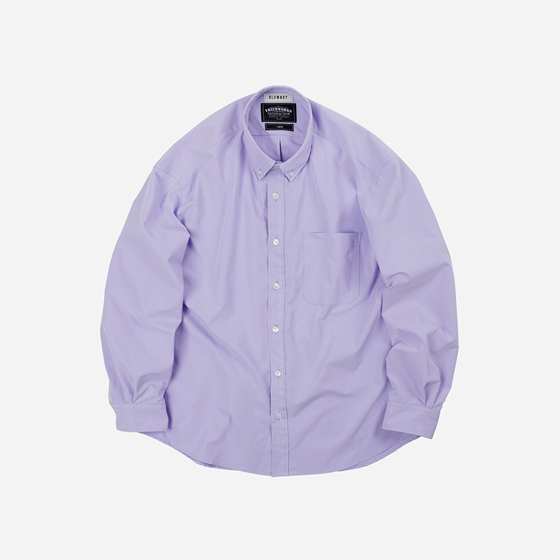 [SLOW BOY X FRIZMWORKS]Oversized button down shirt _ lavender