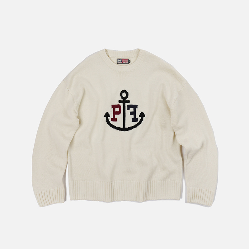 [PENFIELD X FRIZMWORKS]Anchor logo knit _ ivory