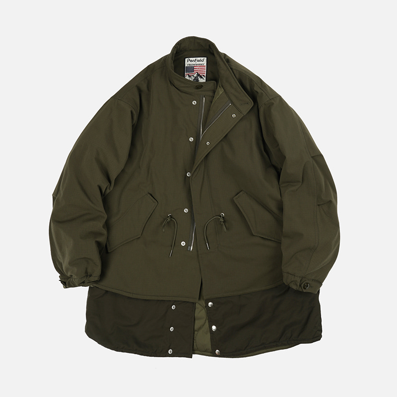 [PENFIELD X FRIZMWORKS]Division fishtail parka _ olive